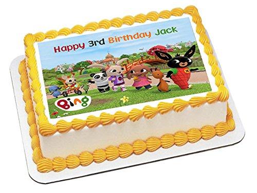 Bing personalizzata torte zucchero carta A4 immagine m3 Amazon.it Casa e  cucina