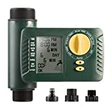 Outdoor Digital Programmable Hose Faucet Timer for Irrigation with Single Outlet & Rain Delay