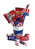 July 4th Gift! -Candy Bouquet- Great Gift Basket for Wishing a Happy Independence Day! (Patriotic Candy Bouquet)