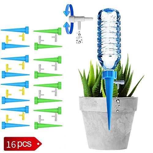 Automatic Plant Water - UGA Automatic Plant Watering Device 16 Packs, Plant Water Dispenser, controllable Automatic Watering Device, Outdoor Indoor Flower Pot Drinker