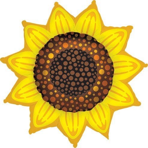 Sunflower 42 Inch Mylar Balloon -
