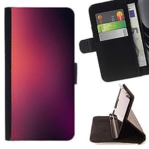 For Apple Apple iPhone 4 / iPhone 4S Case , Niebla borrosa Rosa Negro- la tarjeta de Crédito Slots PU Funda de cuero Monedero caso cubierta de piel