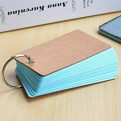 1 tarjeta de notas móvil, 90 x 55 mm, tarjetas de estudio de papel ...