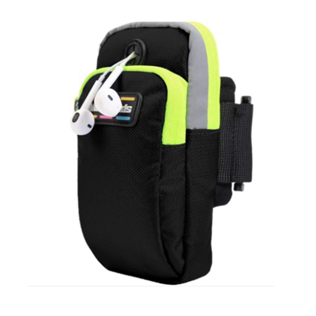 YUKILO Outdoor Fitness Sports Mobile Phone Arm Bag (Color : Black)
