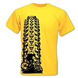 Men's Mountain Bike Tyre Track T Shirt