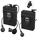 Kamisafe BOYA by-WM5 Wireless Lavalier Microphone 2.4GHz System Clip-on Lapel Mic Compatible with Canon Nikon Sony DSLR DV Cameras Camcorder Audio Recorders