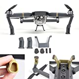 FSL DJI Mavic Pro Landing Gear Leg Height Extender Kit Riser Set Stabilizers with Protection Pad (Grey) (Toy)