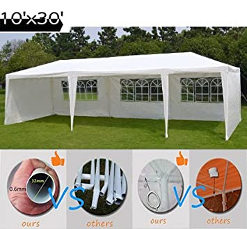 Quictent 10 X 30 Outdoor Canopy Gazebo Party Wedding Tent Pavilion with 5 Sidewalls  sc 1 st  Amazon.com & Amazon.com: Quictent 10 X 30 Outdoor Canopy Gazebo Party Wedding ...