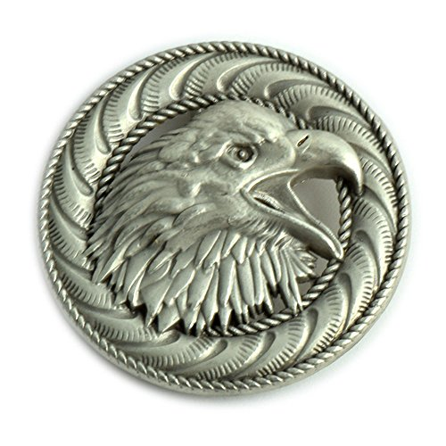 Screaming Eagle Screwback Conchos with an Antique Nickel Finish. (Eagle Concho)