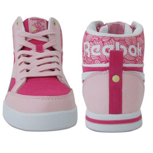 a4dd0b9e828 Reebok Classic Topscotch II Girls Pink   White Hi Top Trainers - 5 UK   Amazon.co.uk  Shoes   Bags
