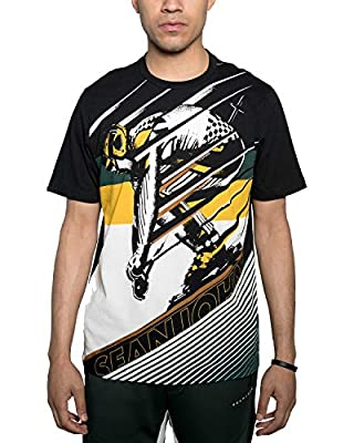 Sean John Men's Down Slope Graphic T-Shirt. Down Slope