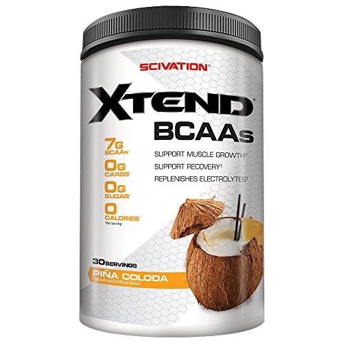 Scivation Xtend BCAA Powder, Branched Chain Amino Acids, BCAAs, Pina Colada, 30 Servings