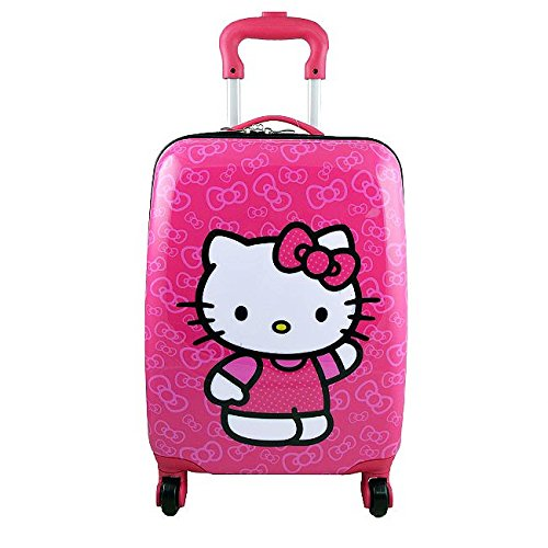 Hello Kitty Deluxe Hardshell Rolling Luggage Case [Spinner]