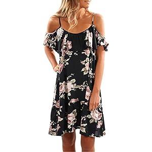 c17b5360c0 Womens Floral Dress Summer Ruffles Dress Off Shoulder Mini Dress Party Dress  Meyerlbama