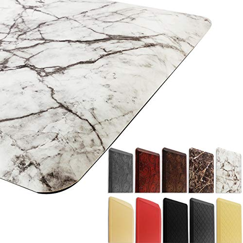 Marble Anti Fatigue Kitchen Mat Nonslip Foam Kitchen Floor Mat Waterproof Cushioned Rugs Comfort Standing Mat for Kitchen Office Computer Desk 20 x 36 3/4