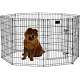 MidWest Exercise Pen with Door, 36-Inch, Black