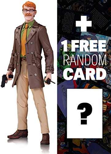 """Commissioner Gordon by Greg Capullo: ~6.6"""" DC Collectibles DC Comics Designer Action Figures Series #3 + 1 FREE Official DC Trading Card Bundle"""