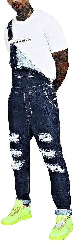 Strir Peto Jeans Monos Hombres Denim Overoles De Mezclilla Pantalon Vaqueros De Mono Para Hombre Pantalones De Bolsillo Rotos Jumpsuit Casual Ropa De Trabajo Pantalon De Trabajo Amazon Es Ropa Y Accesorios