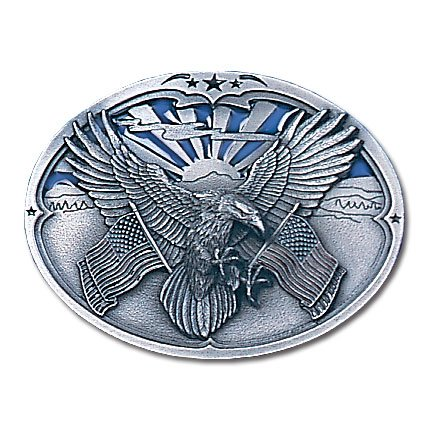 Metal Licensed Belt Buckle (Belt Buckle - Eagle Carrying)
