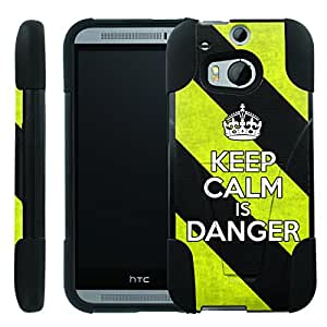 [ManiaGear] Rugged Armor-Stand Design Image Protect Case (Keep Clam is Danger) for HTC One M8