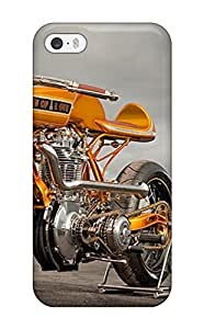 Iphone 5/5s Case Cover - Slim Fit Tpu Protector Shock Absorbent Case (motorcycle)