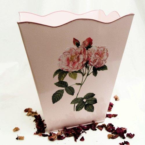 UPC 609408283604, Vintage & Retro Wastebasket ~ Trashcan ~ Trash Holder ~ Trashbasket E15~ Shabby Chic Pink Enamel with Shabby Antique Long Stem Roses
