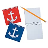 Fun Express - Nautical Cutout Notebooks for Party - Stationery - Notepads - Note Books & Journals - Party - 24 Pieces