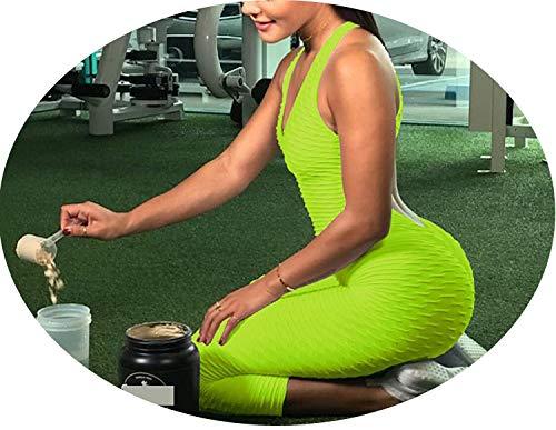 - happy-Adultparadise Women's One-Pieces Sports Suit Set Workout Gym Fitness Jumpsuit Pants y Yoga Set,Green,S