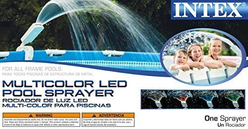 Intex Multi-Color LED Pool Fountain for Above Ground Pools, Fits Metal Frame and Ultra Frame (Swimming Pool Cooler)