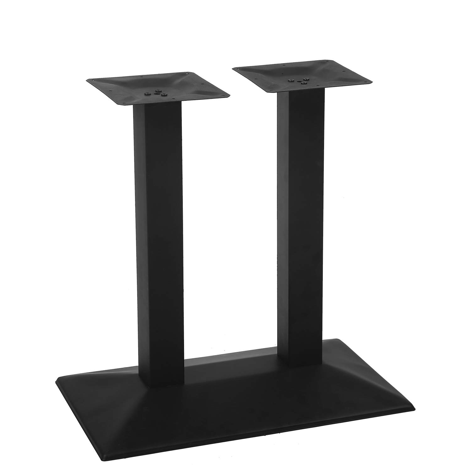 MBQQ Industrial 27.6'' x 15.7'' Rectangle Restaurant Table Base with Double 3'' Side Length Square Columns,28''Height Furniture Legs by MBQQ