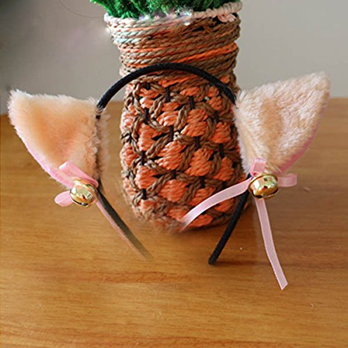 [Say's Headband - Cute Cat Fox Ears Headband Bell Bow Cosplay Halloween Party Fancy Costume / Design:] (Costume Design For Rabbit Hole)
