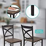 Dporticus 5 Piece Dining Table Set Industrial Style Wood Table Set for Dining Room & Kitchen,Counter Height Table & 4…
