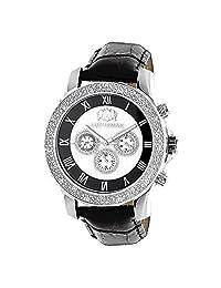 Luxurman Watches Mens Diamond Watch 0.25ct Freeze