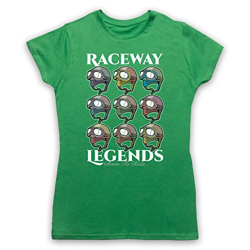 Raceway Legends Born To Ride Camiseta para Mujer Verde
