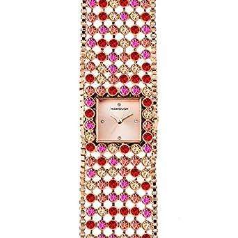 Zeigt Damen Manoush aus Stahl - Pink Gold 28 mm mshmap