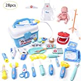 28 Piece Set Girl Role Play Doll Doctor Clothes Toy for kids girls Children's Play House Puzzle Simulated Medical Box Doctor Toy Christmas gifts