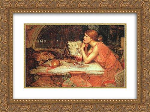 (John William Waterhouse 2X Matted 24x18 Gold Ornate Framed Art Print 'The Sorceress')