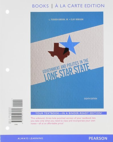 Govenment and Politics in the Lone Star State, Books a la Carte Plus NEW MyPolisciLab with eText -- Access Card  Package