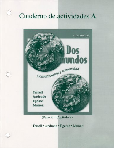 By Tracy Terrell - Workbook/Lab Manual Part A to accompany Dos mundos (6th Edition) (2005-07-16) [Paperback]
