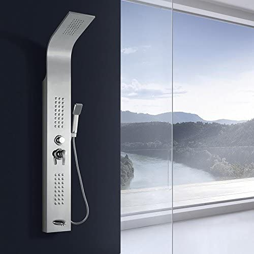 Tw panel de acero inoxidable de ducha ducha termostática conjunto ...