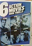 6 ACTION MOVIES Huge Thrills DVD Set (Die Hard/Hitman//Transporter/Taken/Speed/Commando)