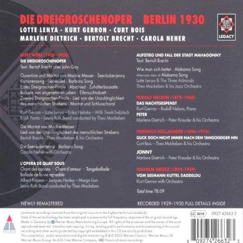 Kurt Weill, musique vocale 51kSX5bYULL