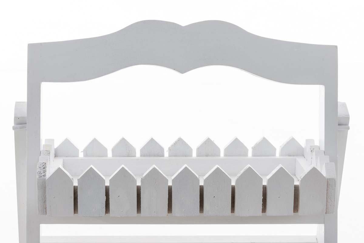 CLP Leiterregal aus Holz mit 2 Ablagefl/ächen I Klappbares Dekoregal im Landhausstil I Blumenregal mit 2 Ablagefl/ächen I erh/ältlich Antik Grau