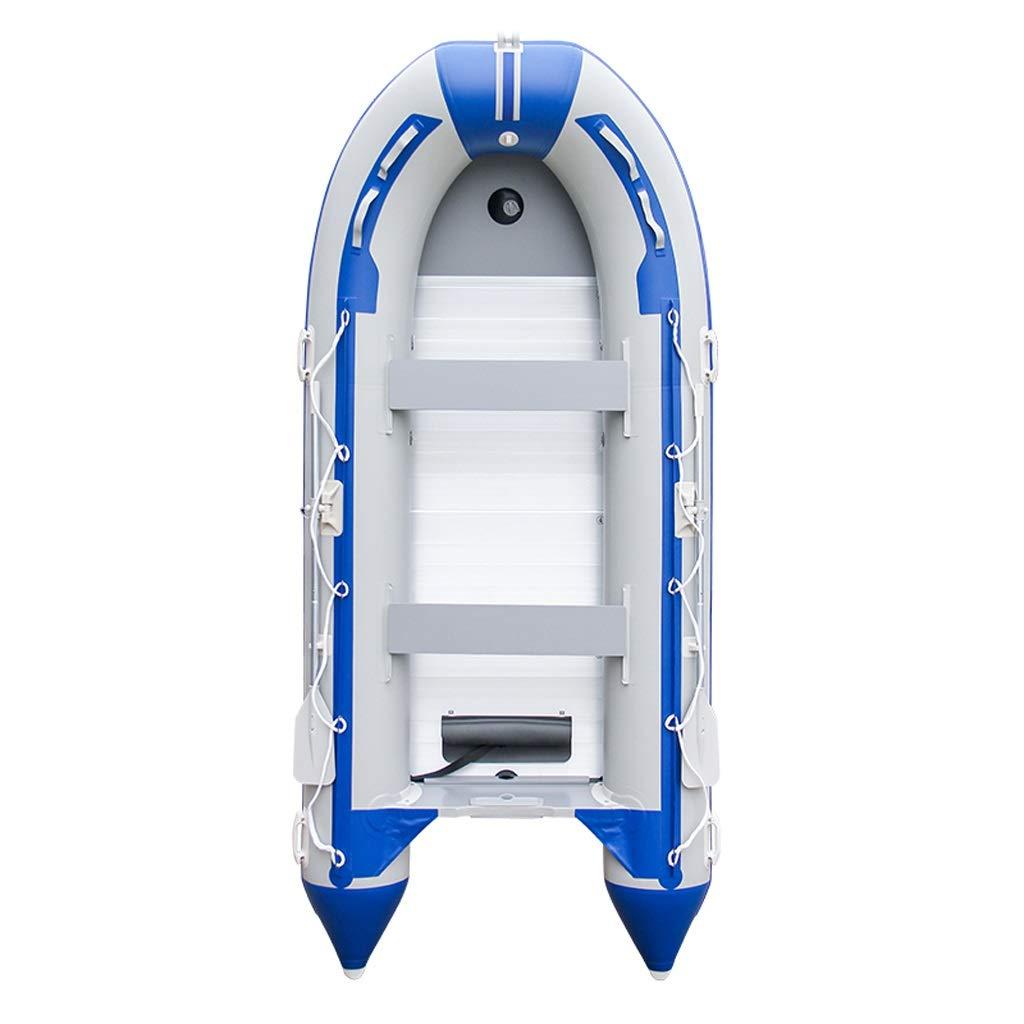 折りたたみカヤックゴムボート - インフレータブルボート、アルミオール、フットポンプでセットされた8人用インフレータブルカヤック - トップ軽量フィッシングカヤックブルーまたはホワイトのアングラーとレクリエーション  2 people