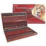 Derwent Pastel Pencils, 4mm Core, Wooden Box, 72 Count (2300343)