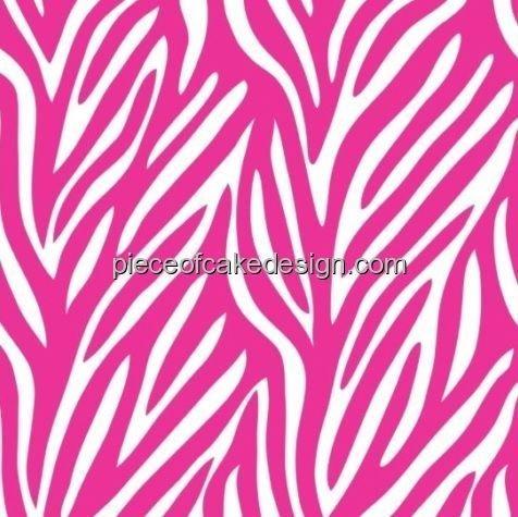 1/4 Sheet - Pink Zebra Print - Edible Cake/Cupcake Topper