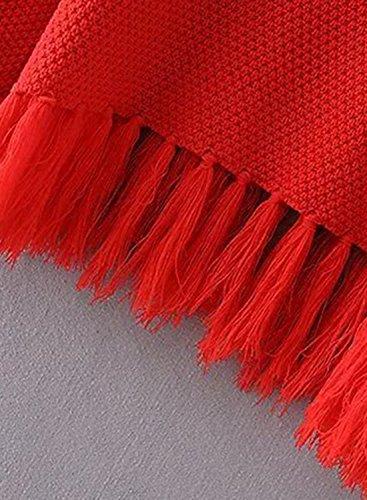 ACHICGIRL - Sudadera - relaxed - Manga Larga - para mujer Rojo