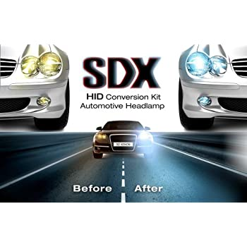 "HID Xenon DC Headlight ""Slim"" Conversion Kit by SDX, H11, 6000K"