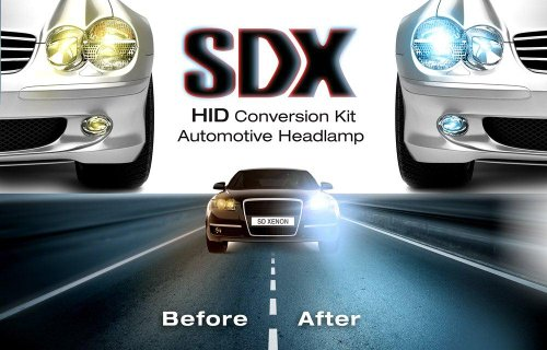 HID DC Xenon Headlight 'Slim' Conversion Kit by SDX, H7, 6000K