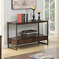Coaster Home Furnishings 704309 Sofa Table, NULL, Light Brown/Rustic Brown Metal